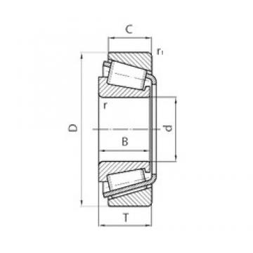 180 mm x 320 mm x 52 mm  CYSD 30236 tapered roller bearings