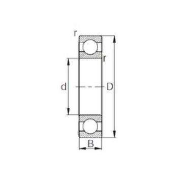 15 mm x 42 mm x 19 mm  CYSD W6302 deep groove ball bearings