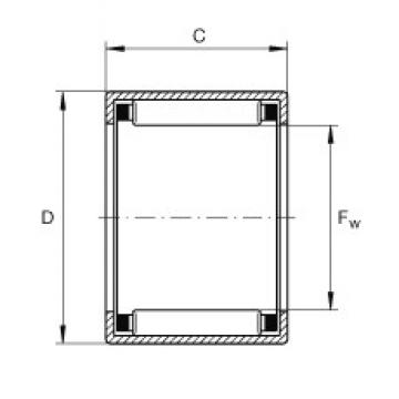 INA SCH1616 needle roller bearings