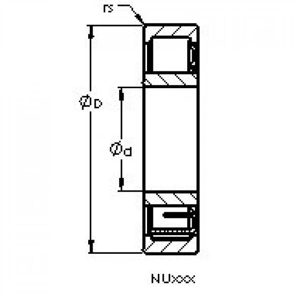 AST NU2203 E cylindrical roller bearings #3 image