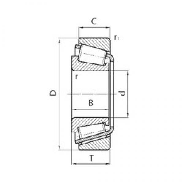 70 mm x 110 mm x 25 mm  CYSD 32014 tapered roller bearings #2 image